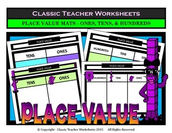 Place Value - Variety of Place Value Mats- Ones & Tens or