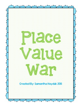 Place Value War: through 1,000
