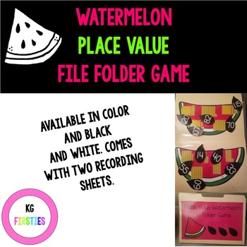 Place Value Watermelon File Folder Game