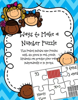 Place Value Puzzle with 2 Digit and 3 Digit Numbers