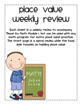 Place Value Weekly Review - Texas Go Math Module 1