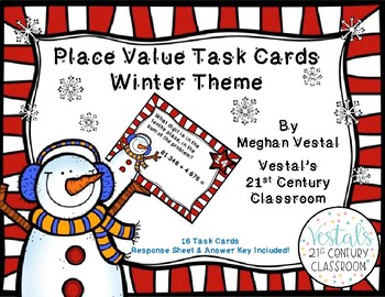 Place Value Winter Theme Task Cards