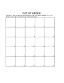 Out of Order! Fractions and Decimals Game