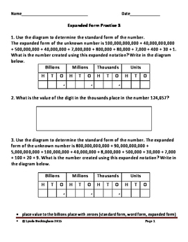 Place Value Word Problems Set 3 with answer key
