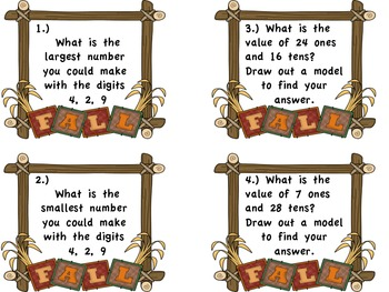 Place Value Word Problems to the Hundreds Place