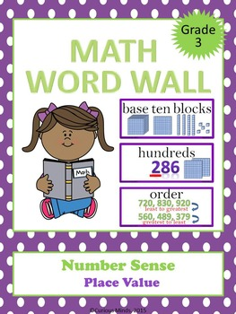 Math Word Wall - Place Value