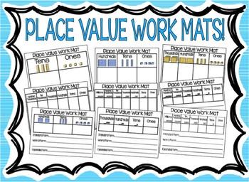 Place Value Work Mats! 2-digits through 7-digits!