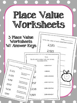 Place Value Worksheets. Math Centers. Assessment. Expanded