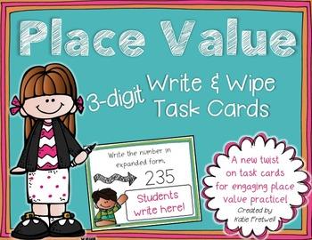 3-digit Place Value Task Cards for Expanded Form, Base Ten
