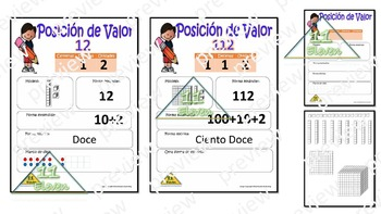 Place Value anchor chart  (Spanish)