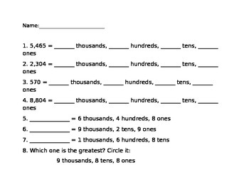 Place Value and Expanded Form