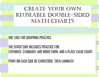 Place Value and Graphing Printable Activities