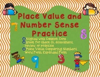 Place Value and Number Sense Review - Comparing Numbers+Nu