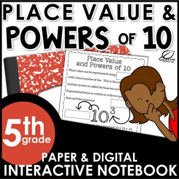 Place Value and Powers of 10 Interactive Notebook Set