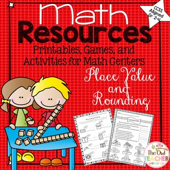 Place Value and Rounding Printables, Games, and Activities