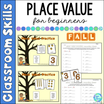 Place Value for Beginners: FALL Theme...Ones, Tens and Hun