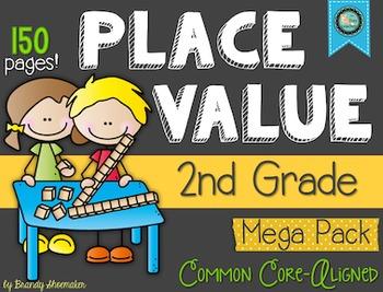 Place Value for Second Grade Mega Pack