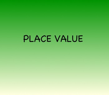 Place Value for Smartboard