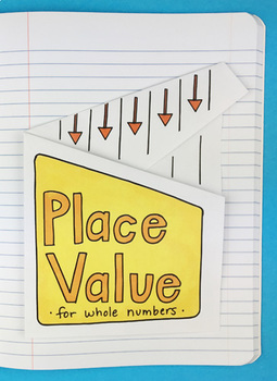 Place Value for Whole Numbers Interactive Notebook Foldabl