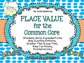 Place Value Activities for Second Grade Common Core