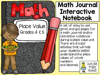 Place Value (grades 4 & 5) ~ Math Journal/Interactive Note