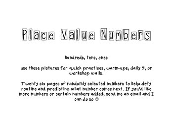 Place Value numbers