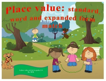 Place Value: standard, word and expanded form match