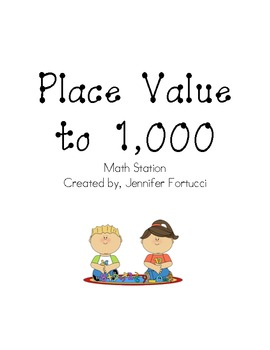 Place Value to 1,000 Station Rotation