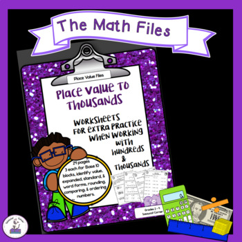 Place Value to Thousands Worksheet packet