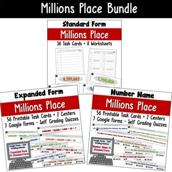 Place Value to the Million's Place Bundled