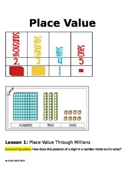 Place Value vocab & worksheet