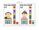 Place value cards with unifix cubes