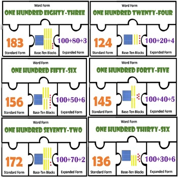 Place value puzzles Expressing Numbers Standard expanded w
