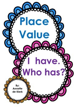 Place value to 100 - I have... who has?