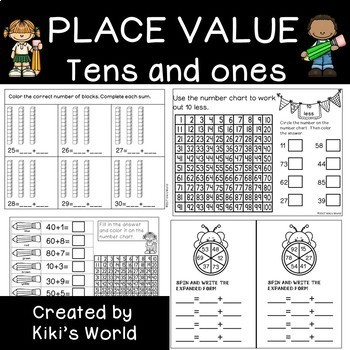 Place Value Worksheets (Tens and ones)