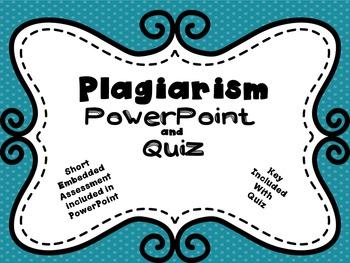 Plagiarism Lesson and Quiz