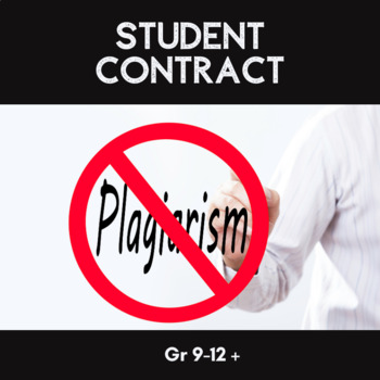 Plagiarism Student Contract