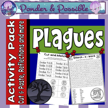 Plague Activity pack ~ Moses and The Great Plagues of Egyp