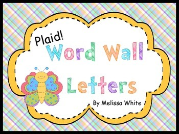 Plaid Word Wall Letters