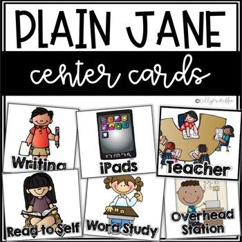 Plain Jane Center Cards