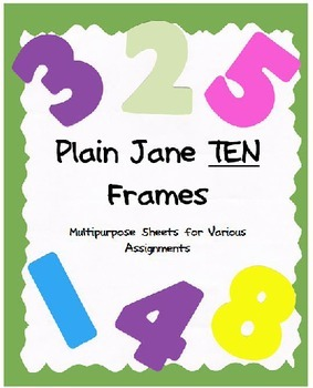 Plain Jane Ten Frames - Multipurpose