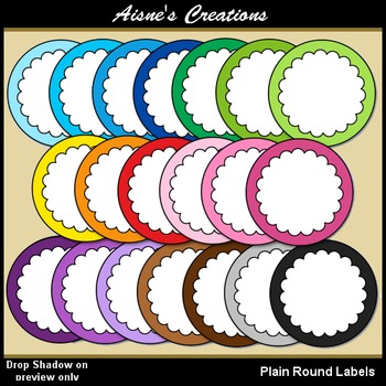 Plain Round Labels Clip Art