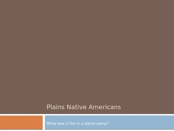 Plains Native American Informational PowerPoint