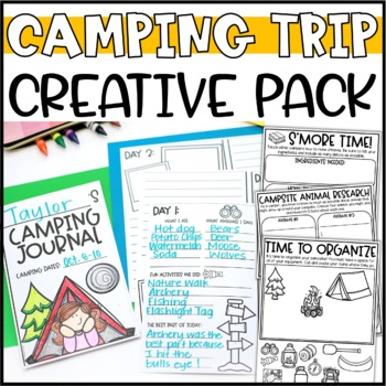 Plan a Camping Trip Writing Add-On: Camping Trip Journal