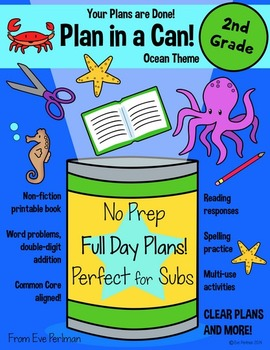 Plan in a Can! Full Day Emergency Substitute Plans for 2nd