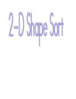 Plane Shape Sort - 2-D shapes
