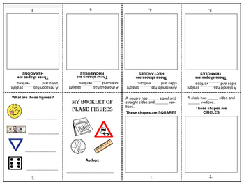 Plane Shapes - Foldable Booklet