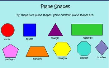 Plane & Solid Shape Smart Notebook for Common Core Standar
