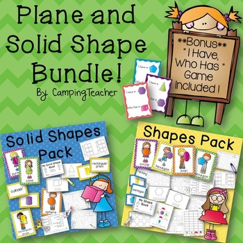 Plane and Solid Shapes Pack Math Bundle {with Bonus Game I