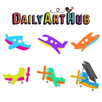 Planes Clip Art - Great for Art Class Projects!